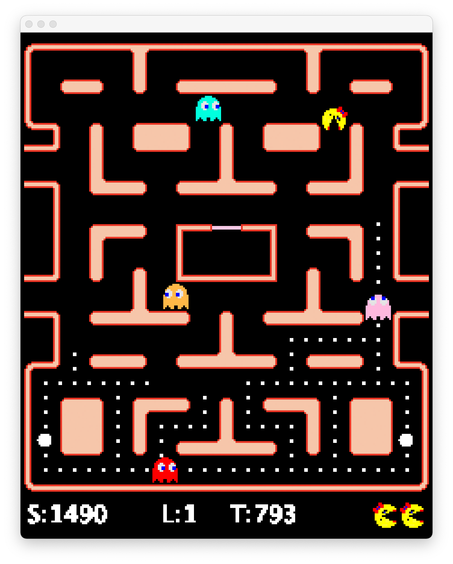 MsPacMan Vs Ghosts